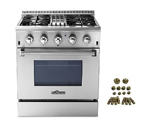 4 burner dual fuel range