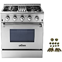 30 THOR KITCHEN 4 BURNER DUAL FUEL RANGE + LP CONVERSION KIT BUNDLE