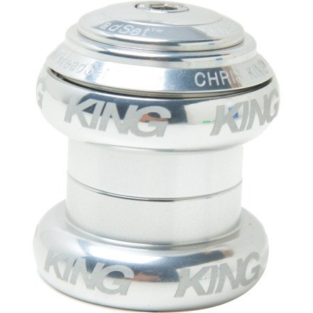 Chris King NoThreadset Headset - 1in Sotto Voce Silver, 1in
