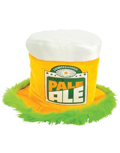 St Patricks Day Green Irish Pale Ale Costume Beer Mug Fur Trim Top ()