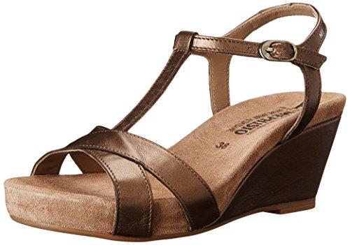 Mephisto Women's Batida Wedge Sandal, Bronze Pearl Calfskin, 11 M US