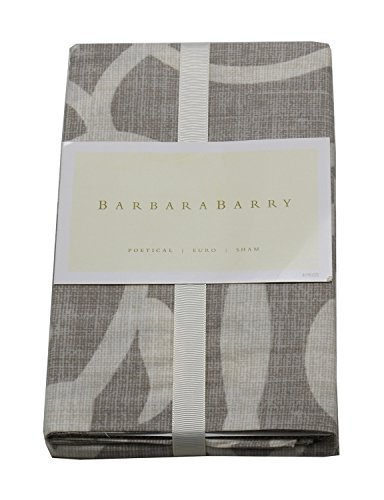 Barbara Barry Poetical 26in x 26in Euro Sham Silver