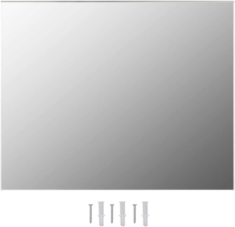 Extaum Espejo de Pared Rectangular Espejo sin Marco Vidrio 100 x 60 cm para Ba/ño Dormitorio