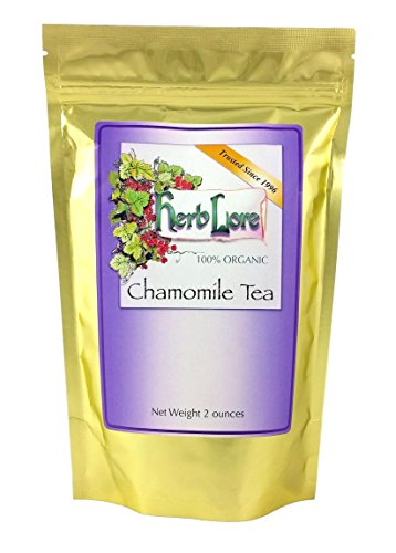(Herb Lore Organic Chamomile Tea - Loose Leaf - 60 Servings - All Natural Relaxation and Sleep Aid)