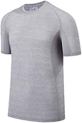 ファッション スポーツTシャツメンズ夏の速乾性の服半袖高弾性氷シルク通気性汗吸収レジャーフィットネス半袖ゆったり エレガント