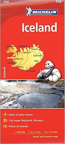 Michelin Iceland Map 750 (Michelin Map): Amazon.de: Michelin ...