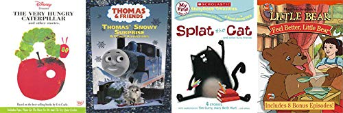 Children's Education Fun Four Pack - Scholastic Storybook Splat the Cat..& Other Furry Friends, The Very Hungry Caterpillar & Other Stories, Little Bear: Feel Better, Little Bear & Thomas the (Feel Better Little Bear Dvd)