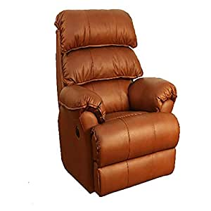 Recliners India Style 208 Swivel Glide Single Seater Recliner - Tan