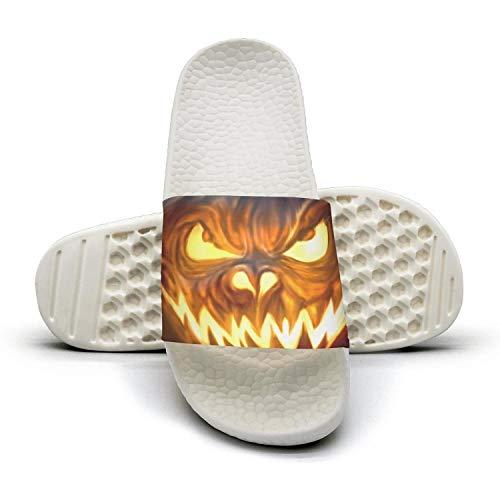Happy Toe Flip Slides Flop Cool Sandals Design Outdoor Pumpkin Pumpkin Open Womens Soft Halloween Happy Halloween Bath S7q6xppz