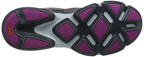 Ryka Womens Devotion Plus Walking Shoe Frost Grey/Steel Grey/Rose Violet