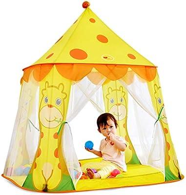 Tiendas de campaña Tienda Infantil De Dibujos Animados para Niños De Interior Juego De Casa De Juguetes De Fantasía Hombres Y Mujeres Niños Princesa House Amarillo 105 * 95 * 120: Amazon.es: Hogar