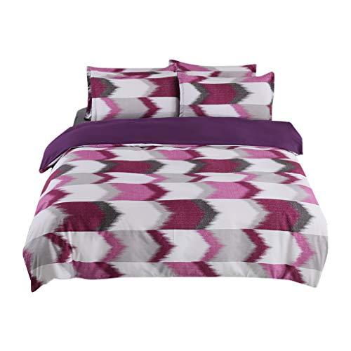 Duvet Cover Sets Vine_MINMI Bedding Cover 3 Pcs Simple Lattice Pattern Bedding Set Comforter 1 Duvet Cover+2 Pillowcases