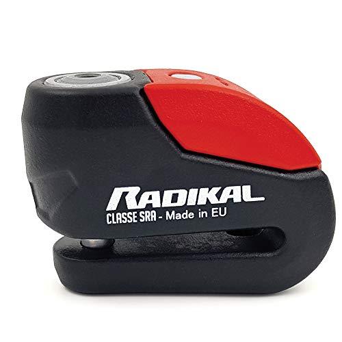RADIKAL RK10 anti-diefstal hangslot voor motorfietsen 120 dB + universele LED-zoemer, hoge beveiliging CLASSE SRA…
