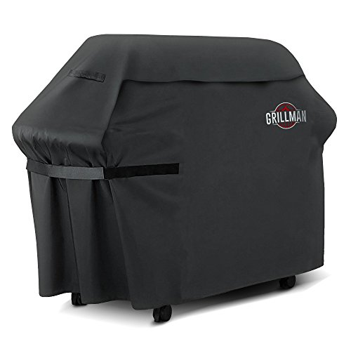 (Grillman Premium (58 Inch) BBQ Grill Cover, Heavy-Duty Gas Grill Cover For Weber, Brinkmann, Char Broil etc. Rip-Proof , UV &)
