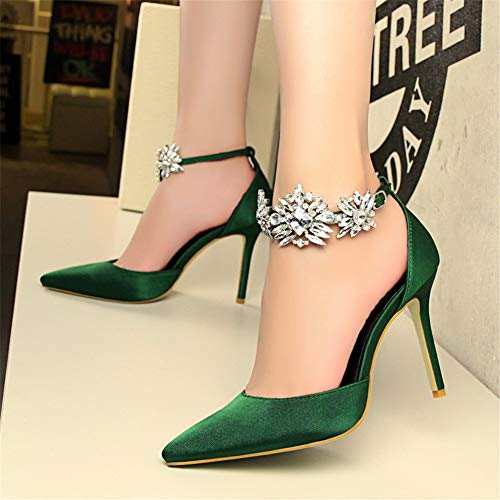Tacco Moquite Donna Nuovo Verde Estate A Primavera 2019 Shoes Moda Femminile Sandali Alto Col Spillo Sexy Scarpe Ed Con R1YRqx