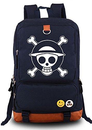 Siawasey Anime One Piece Cosplay Luminous Messenger Bag Backpack School Bag