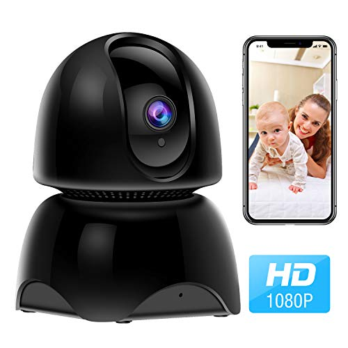 (WiFi Camera, 1080P Wireless IP Home Security Surveillance Camera for Pet/Nanny/Elder/Baby Monitor with Pan/Tilt/Zoom, Two Way Audio, Night Vision and Motion Detection)