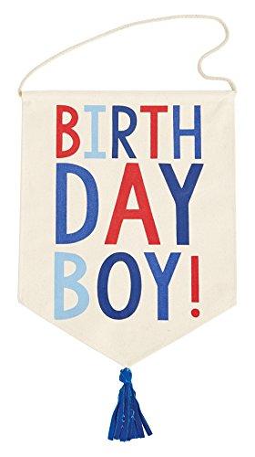 Mud Pie Birthday Boy Pennant Banner, Multi