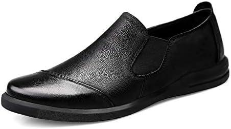 ファッションシューズ スタンダードシューズ 靴メンズファッションドライビングローファーカジュアルクラシックピュアカラーシルキースリップオンボートモカシン(マットブラックオプション) レジャーシューズ