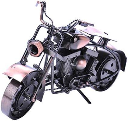 鉄のオートバイ、机の装飾、創造的なかわいい工芸品、現代の家の装飾の装飾 (Color : Bronze, Size : 26*8*14cm)