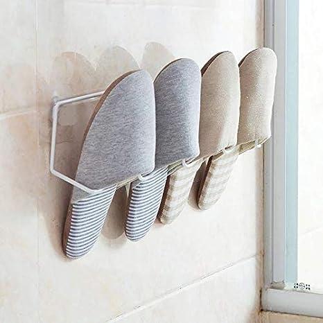 CHLCH Perforación Gratuita Zapatillas de baño Estante de ...