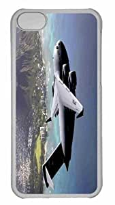 Customized iphone 5C PC Transparent Case - War Airplane 10 Personalized Cover