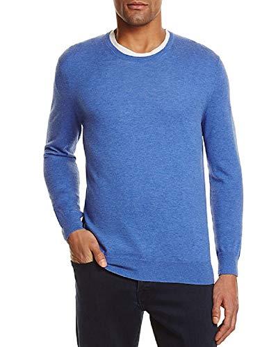 - Bloomingdale's Cashmere Cotton Laguna Blue Light Crewneck Sweater Size 2XL