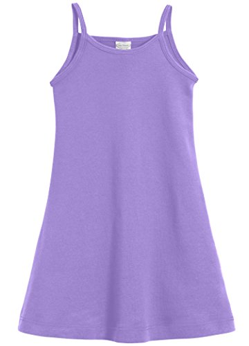 (City Threads Big Girls' Summer Dress Cami Camisole Spaghetti Strap Maxi Slip No Sleeve Dress For Sensitive Skin or SPD Sensory Friendly, Dark Purple,)
