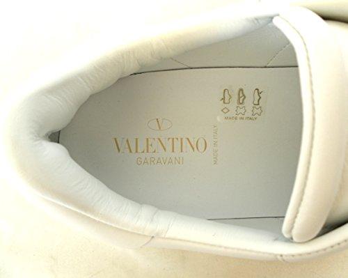 VALENTINO GARAVANI SNEAKERS SCARPE UOMO CON ELASTICO MY2S0938BVC BIANCO ROSSO