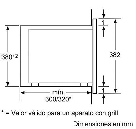 Bosch MDA HMT72G654 MICROONDAS - GRILL 20L, 800 W, 20 litros, Negro, Acero inoxidable