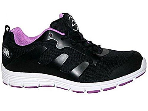 Groundwork - Zapatillas de seguridad mujer negro y lila