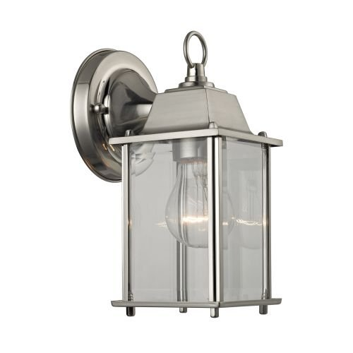 Brushed Nickel Outdoor Light Fixture - 5