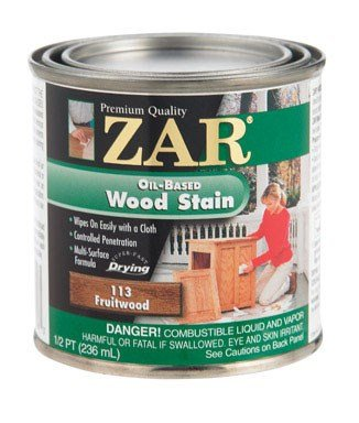 - ZAR 11306 Wood Stain, 1/2PT, Fruitwood