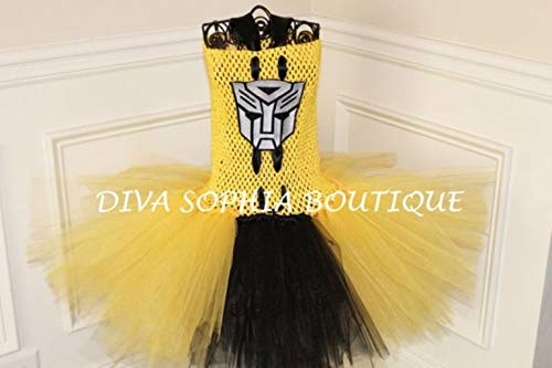 Transformers (Bumble Bee) Tutu Dress/Tutu Dress/Costume