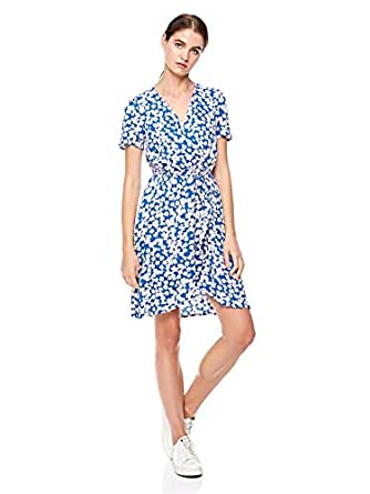 Vero Moda wrap dress for women in Royal Blue, Medium