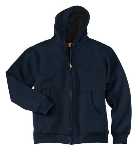 Work Jacket Cornerstone - Cornerstone Men's Warmth Full-Zip Hooded Work Jacket_Navy_Large