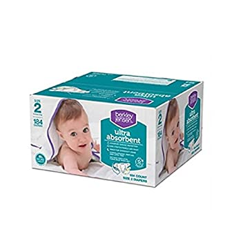 Berkley Jensen Ultra Absorbent Hypoallergenic Baby Diapers (Size 2 - 184 Count)
