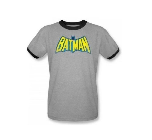 - DC Classic Batman Logo Officially Licensed Adult Ringer T Shirt