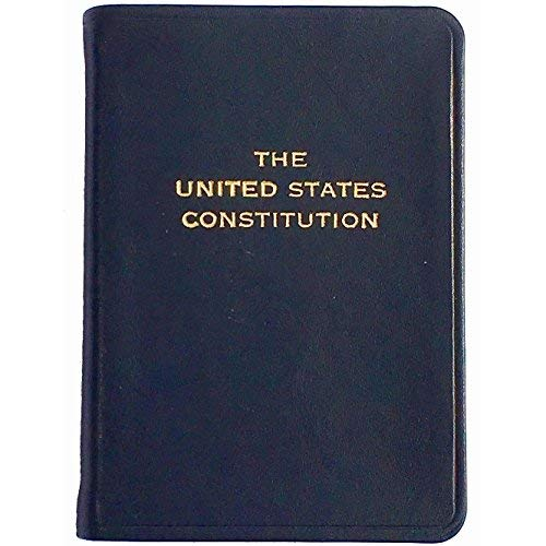 Palm Size Constitution in Dark Navy-Blue Leather by Graphic ImageTM - 2.75x3.75