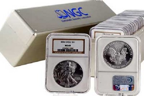 1997 – Silver Eagle Dollar MS69 NGC