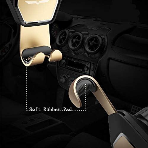 車の電話ホールダー、金属の多機能の操縦士の重力の出口車ブラケット (色 : ブラック)