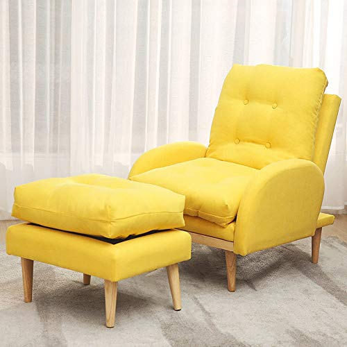 Mobile Chaise Adjustable Lounge - NEW CHAIRS Lazy Sofa, 3 Files Folding Lazy Floor Chair, Lounge Chair with Grab Bars, Small Sofa in The Bedroom Room, Adjustable Chaise, Washable Easy Folding Comfortable Chair Blue/Gray/Yellow