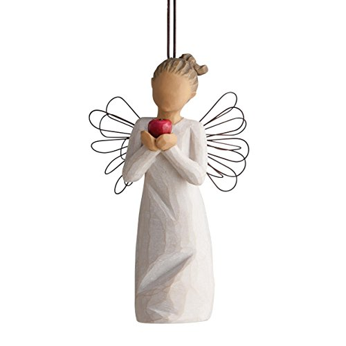 Willow Tree You're The Best Angel Holding Apple Christmas Ornament 27468 Teacher