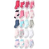 Little Me Infant Socks & Baby Girl Socks, 20 Pairs, 0-12/12-24 Months