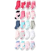 Little Me Baby 20 Piece Assorted Socks, Girls', Multi, 0-12/12-24 Months