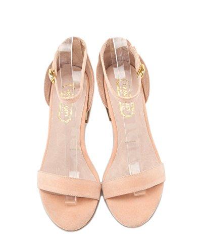 blanco tacones sandalias 36 Orange altos confortables Mujer verano Moda 04qH66