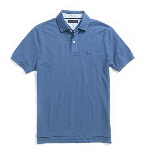 Tommy Hilfiger Classic Fit Men Polo T-shirt (Medium, Cornflower Blue)