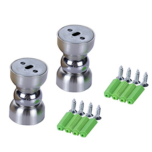 Cucumis Stainless Steel Door Magnetic Door Stopper Bedroom Door Ultra Mini 2Pcs