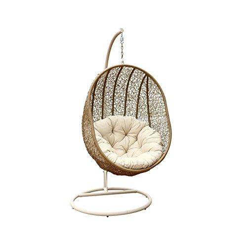 Abbyson Hampton Outdoor Wicker Swing Chair, Light Brown