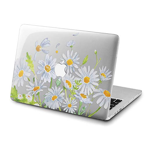 Lex Altern Daisy MacBook Air Case 13 inch 2017 Model Pro A1989 15 2018 Flowers Mac Clear Retina 12 Cover Hard Cute Alien Laptop 11 Apple 2016 2015 Protective Girl Green Print Plants Garden Touch Bar ()
